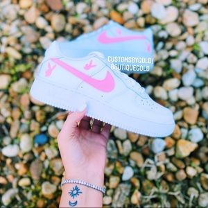 Customs Nike Air force 1 PLAYBOY White and…